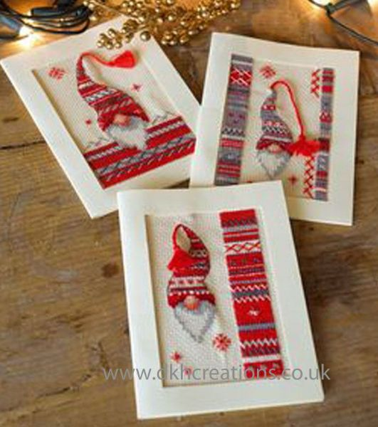 Christmas Elf Greetings Cards Cross Stitch Kit